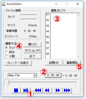 オーディオエディターで音声を編集する