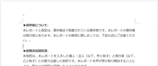 無料レポート本編用wordテンプレート
